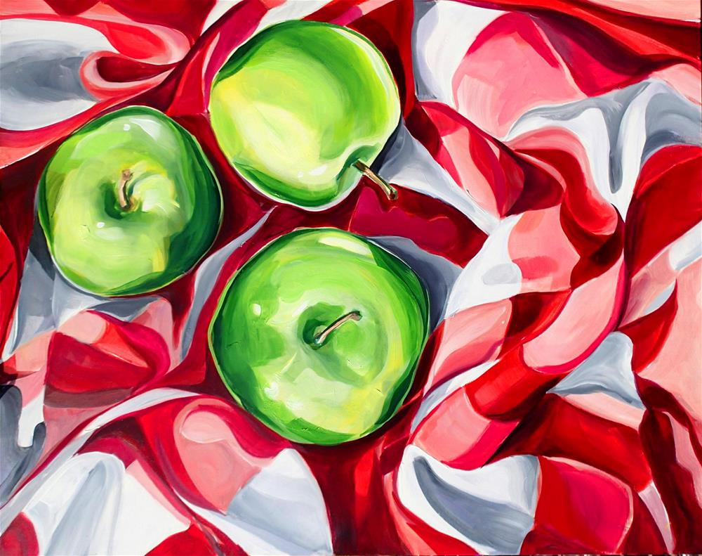 """Green Apple Reunion"" original fine art by Lauren Kuhn"