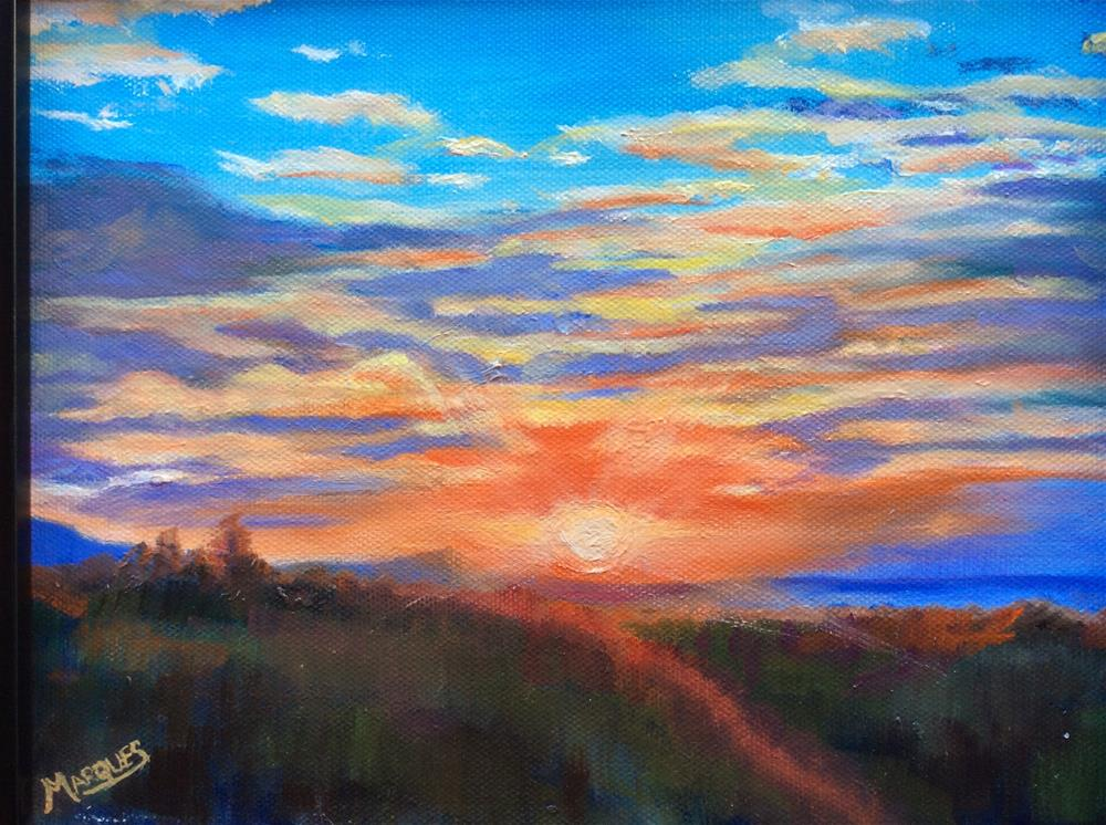"""Sunset"" original fine art by Kathy Marques"