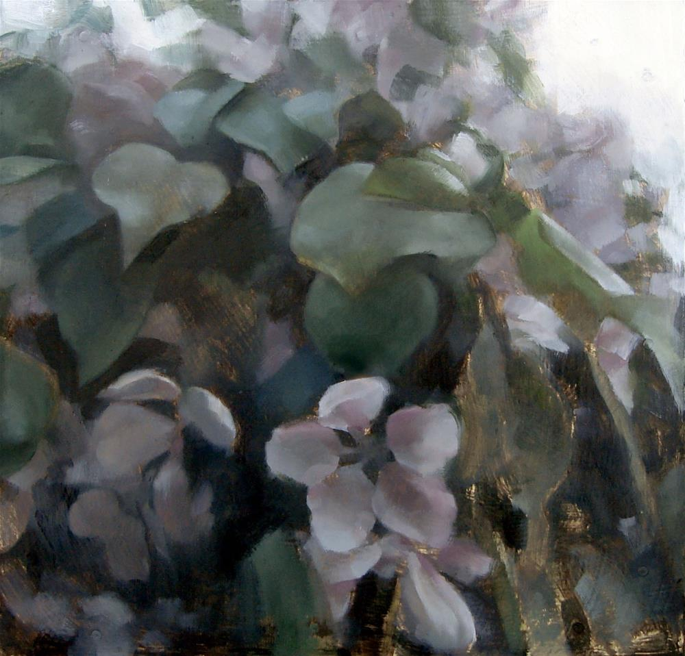 """Apple Blossom Tree (no.97)"" original fine art by Michael William"