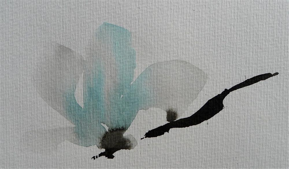 """Winter magnolia blossom"" original fine art by Ulrike Schmidt"