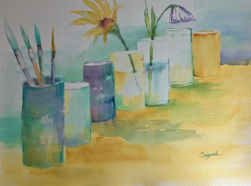 """Water and Things"" original fine art by Crisynda Buss"