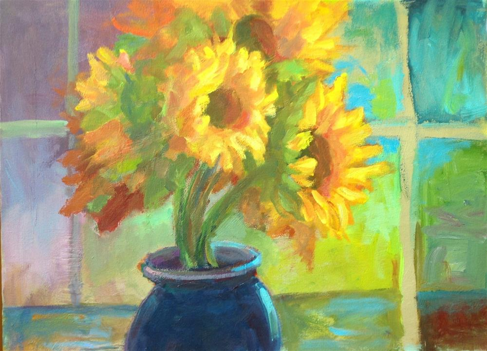 """Sunflowers in the Sunlight"" original fine art by Marcia Bergtholdt"