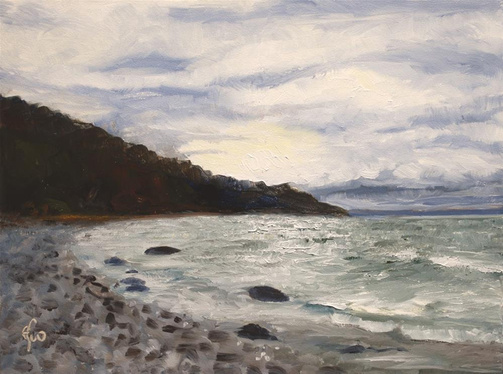"""Bend in the Rocky Shore"" original fine art by Gary Westlake"