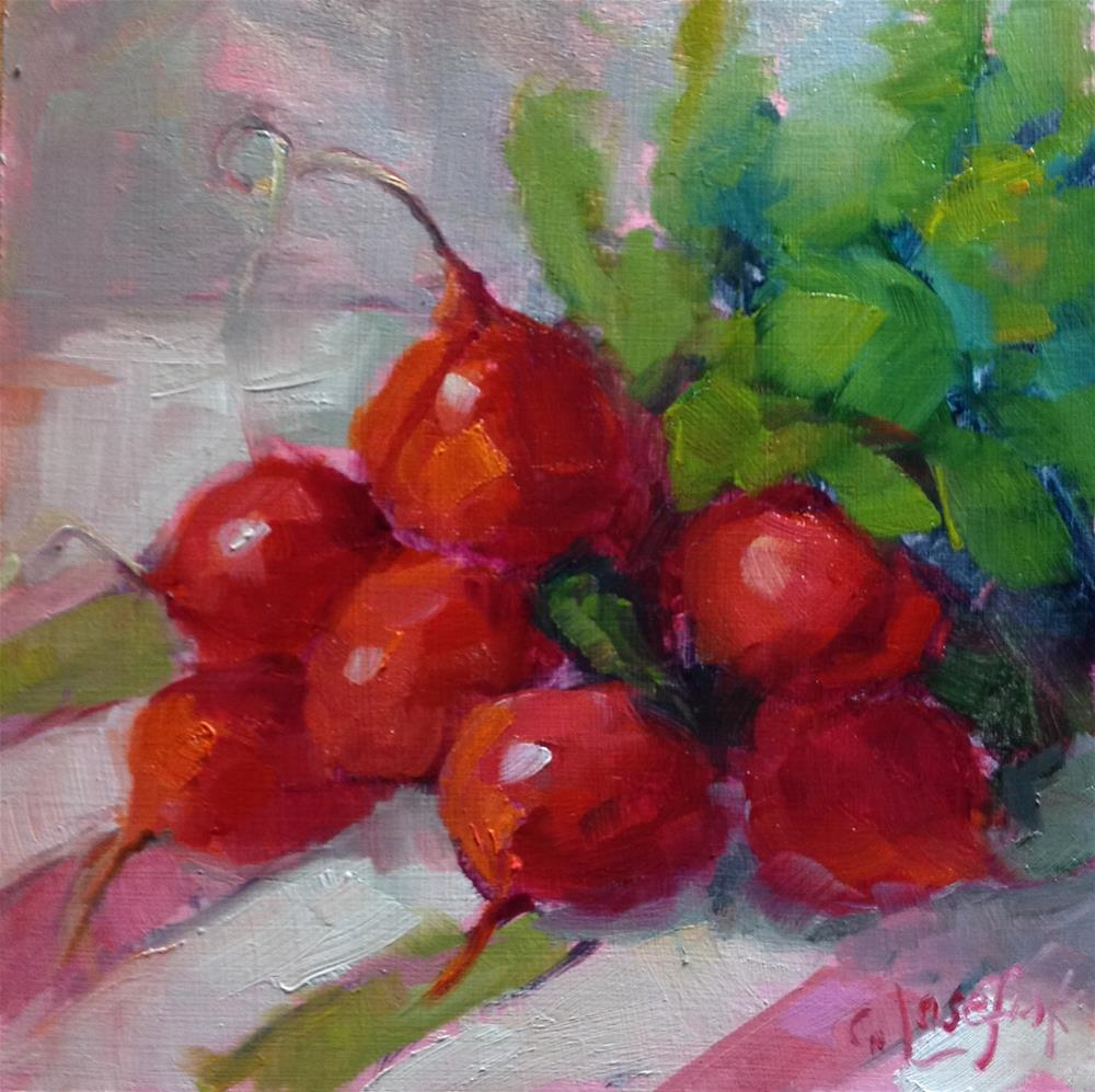 """Red is for Radish"" original fine art by Carol Josefiak"