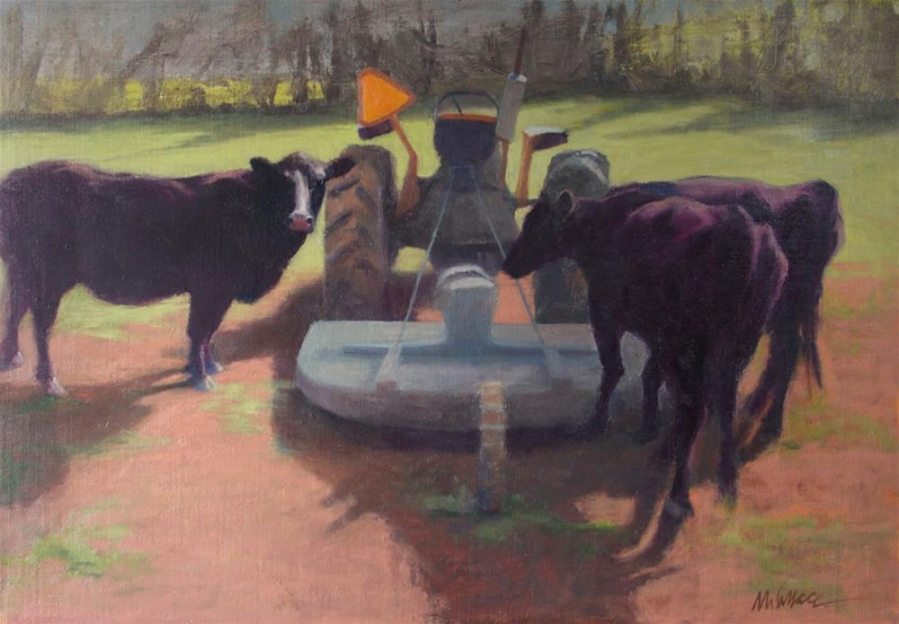 """""""#93 Do YOU know how to drive this thing?"""" original fine art by Nancy Wallace"""