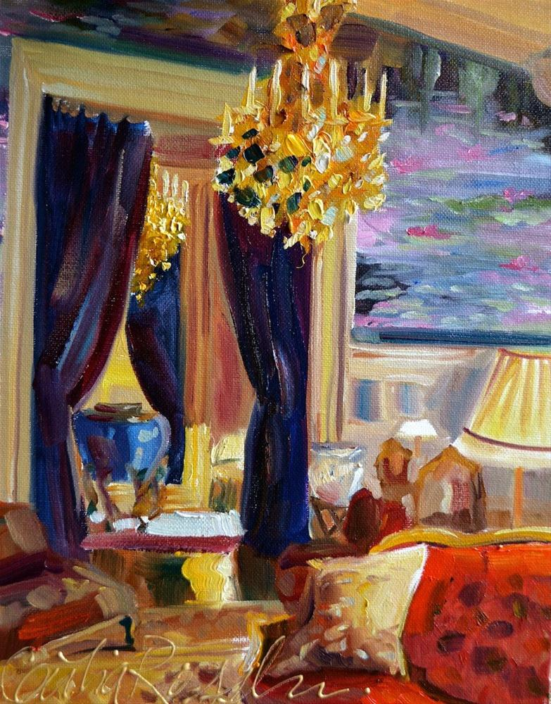 """YSL lounge"" original fine art by Cecilia Rosslee"