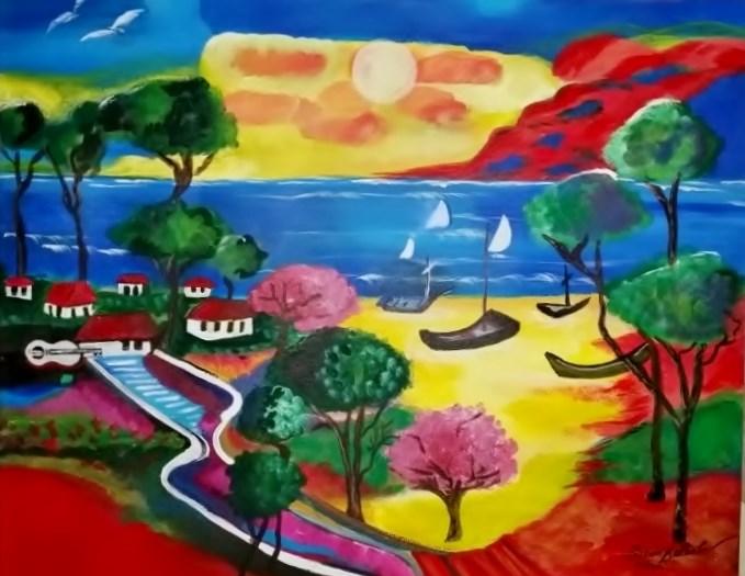 """Tommy's Oasis"" original fine art by Susan Belisle"
