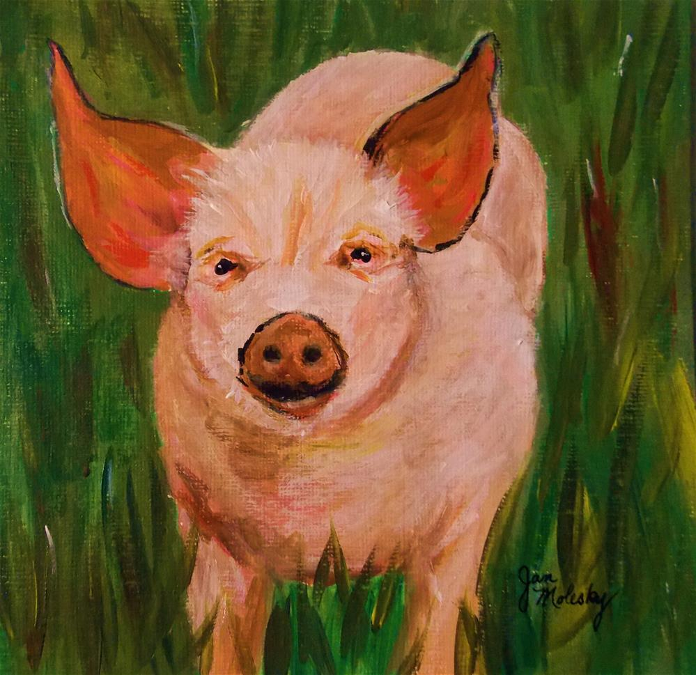 """Wilbur"" original fine art by Jan Molesky"