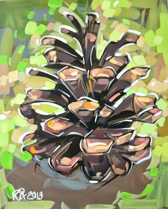 """Pine Cone Abstraction 2"" original fine art by Roger Akesson"