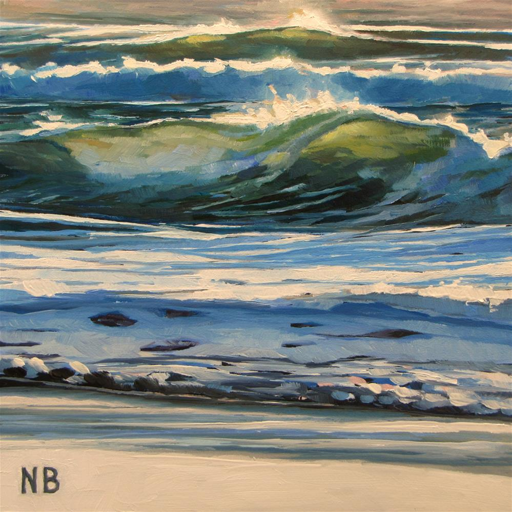 """Winter Waves"" original fine art by Nora Bergman"