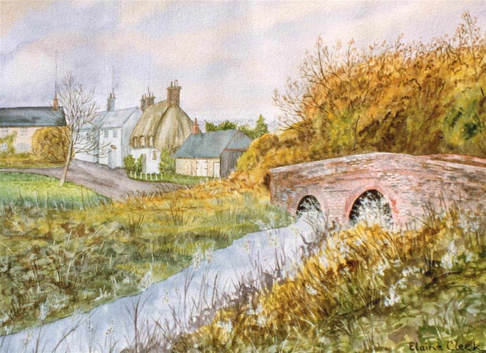 """Lower Bockhampton"" original fine art by Elaine Farmer"