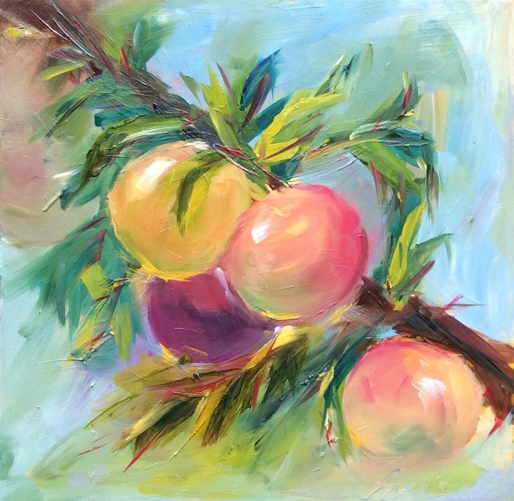 """""""Fruity"""" original fine art by Hoda Nicholas"""
