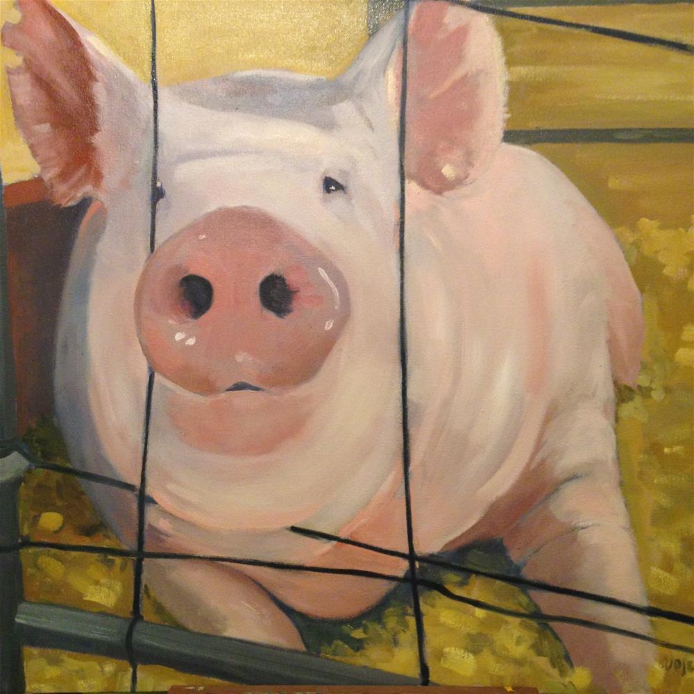 """Some Pig"" original fine art by Patty Voje"