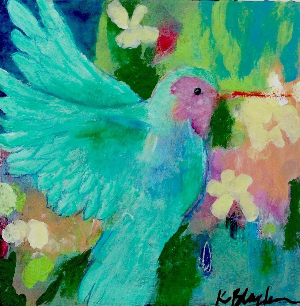 """Little Hummingbird"" original fine art by Kerri Blackman"