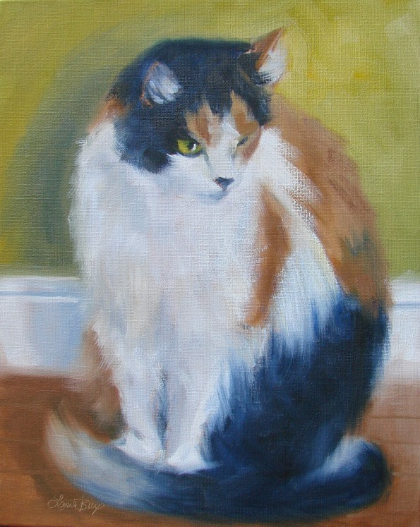 """Large Callie - 361"" original fine art by Laura  Buxo"