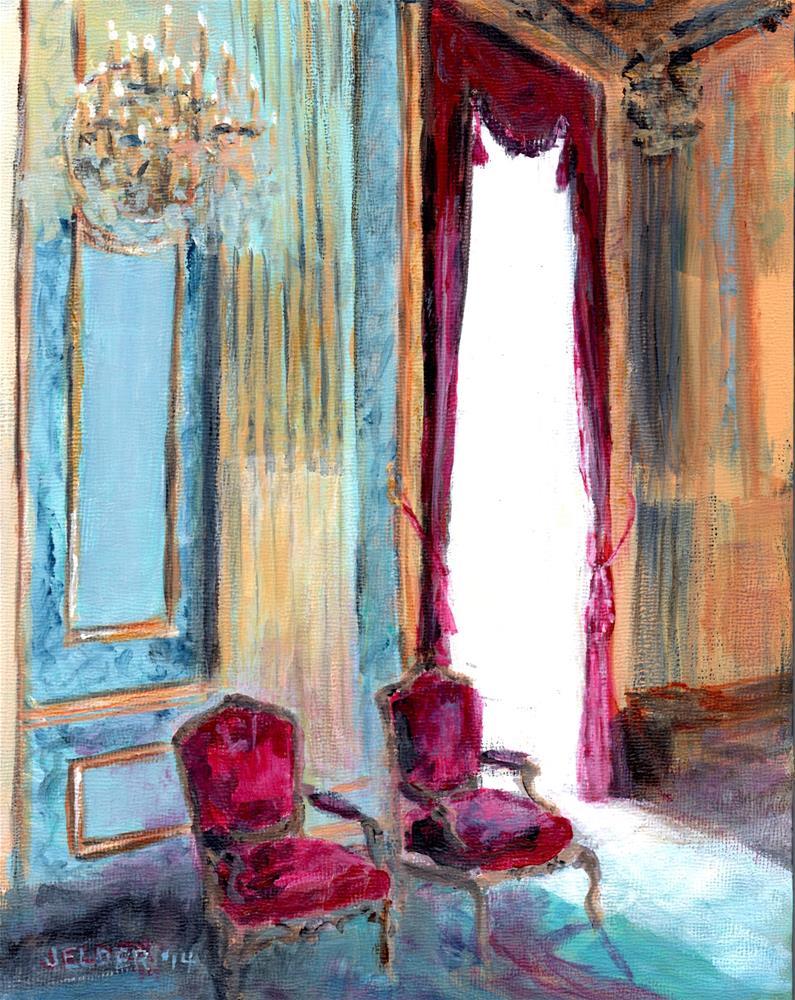 """Louvre No. 9"" original fine art by Judith Elder"
