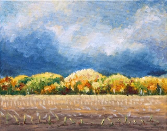 """""""Impending storm"""" original fine art by Hilary J. England"""