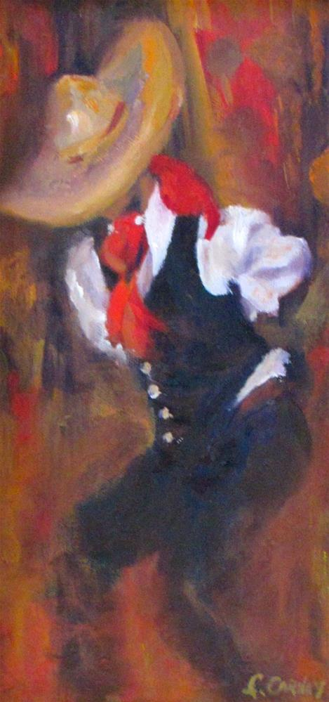 """Dancing in Isles Mujeras"" original fine art by Linda Carney"