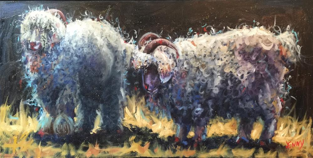 """Heads Or Tails"" original fine art by Jenny Buckner"