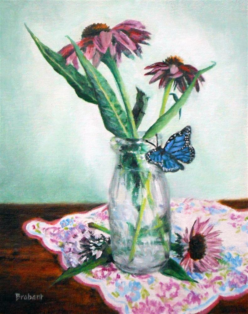 """Purple Coneflower"" original fine art by Jill Brabant"