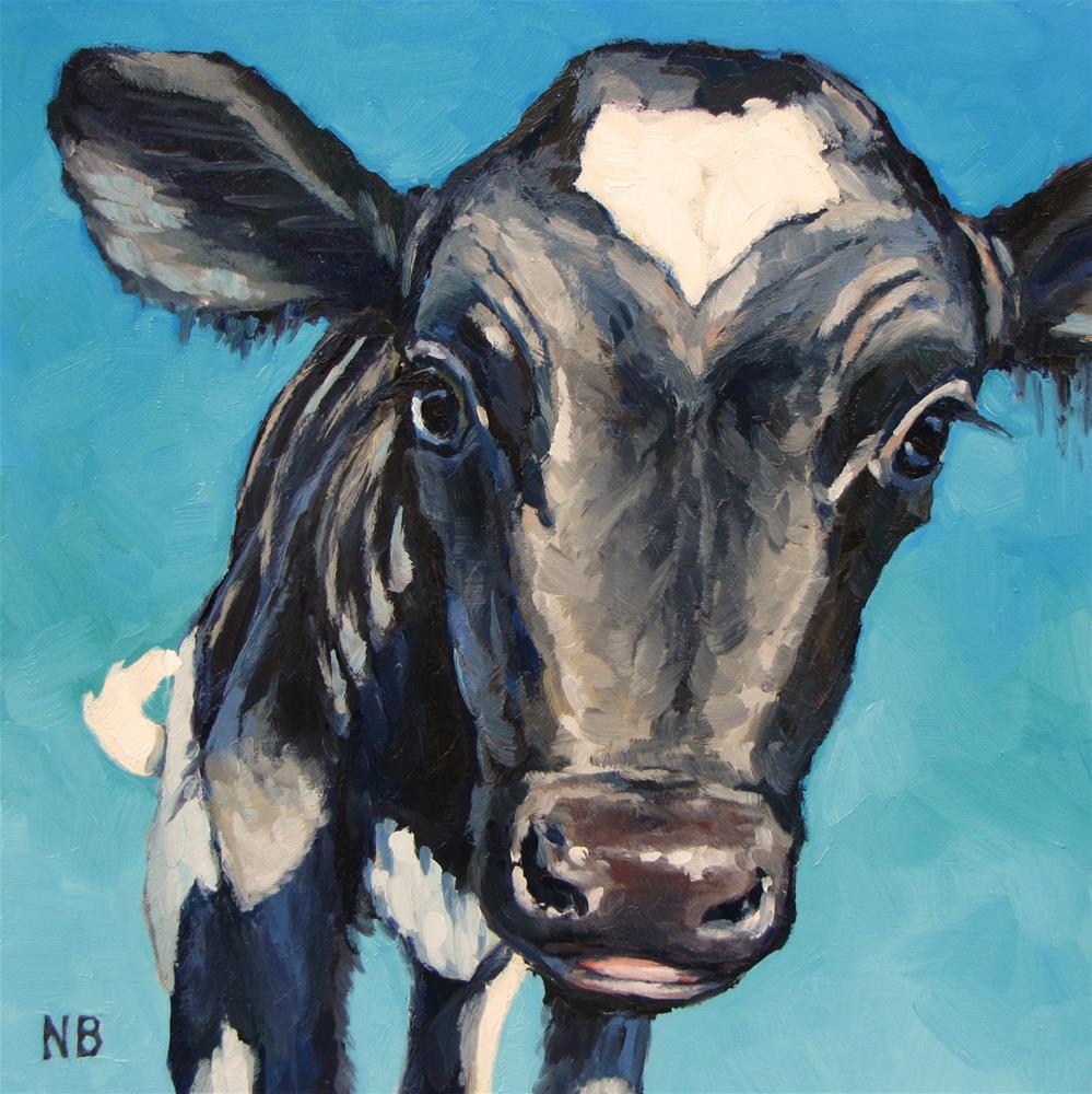 """Moo Baby"" original fine art by Nora Bergman"
