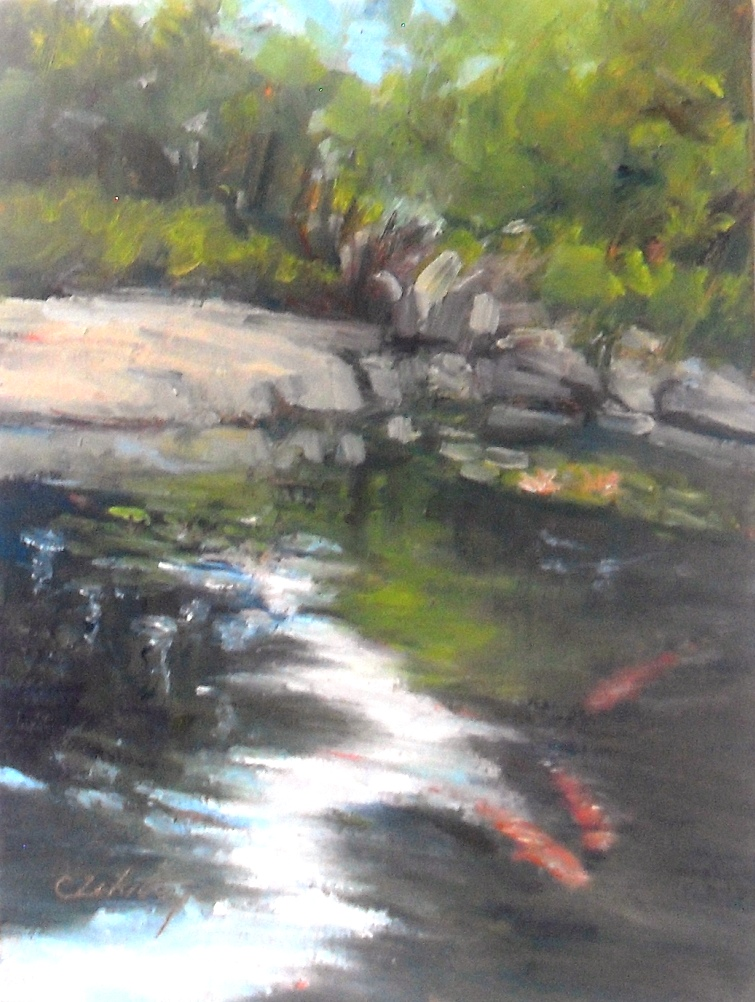 """Water Garden"" original fine art by Catherine Zakutney"