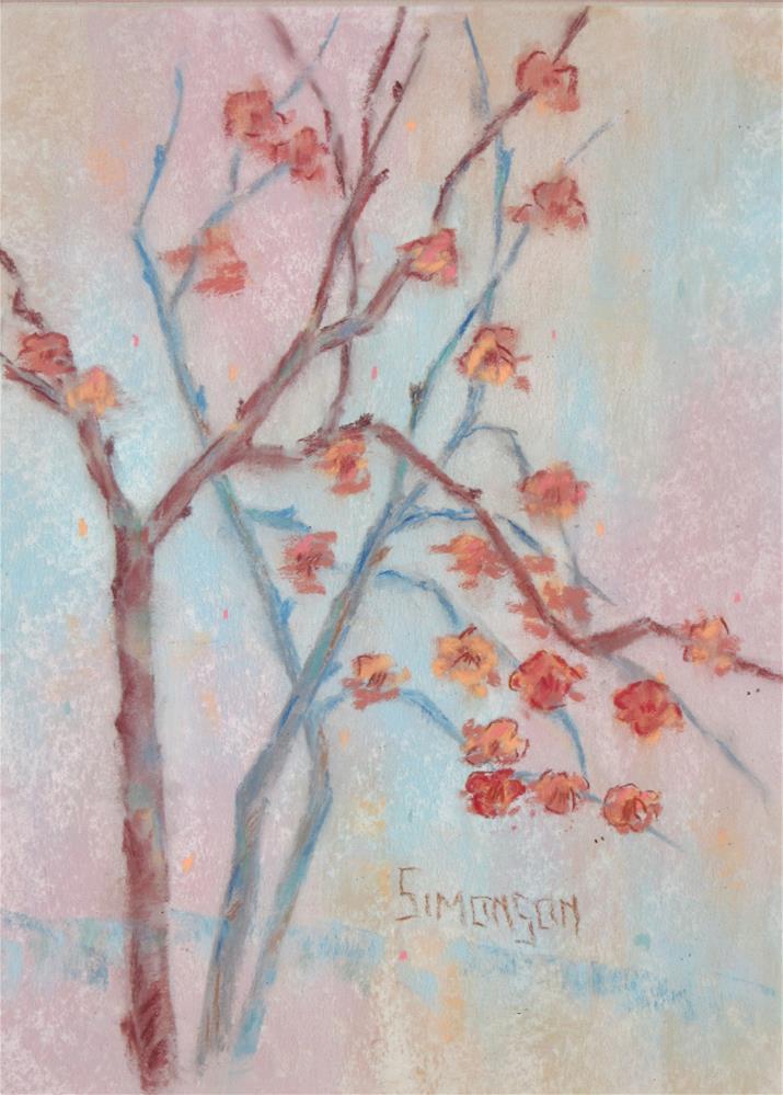 """""""Flowering Branches"""" original fine art by Bev Simonson"""