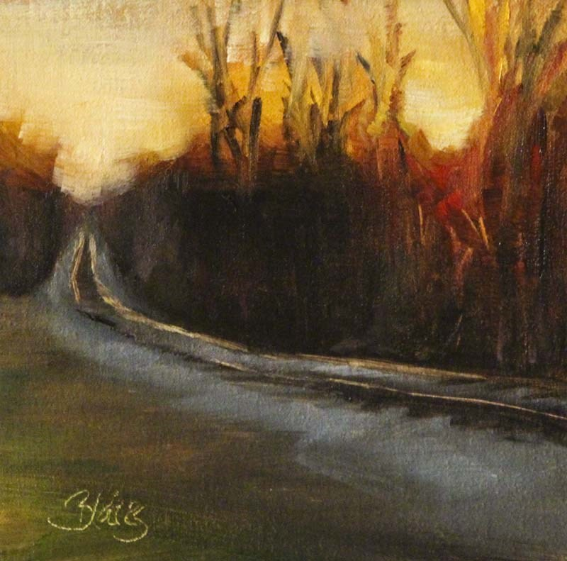 """Sunset Crossing"" original fine art by Pamela Blaies"