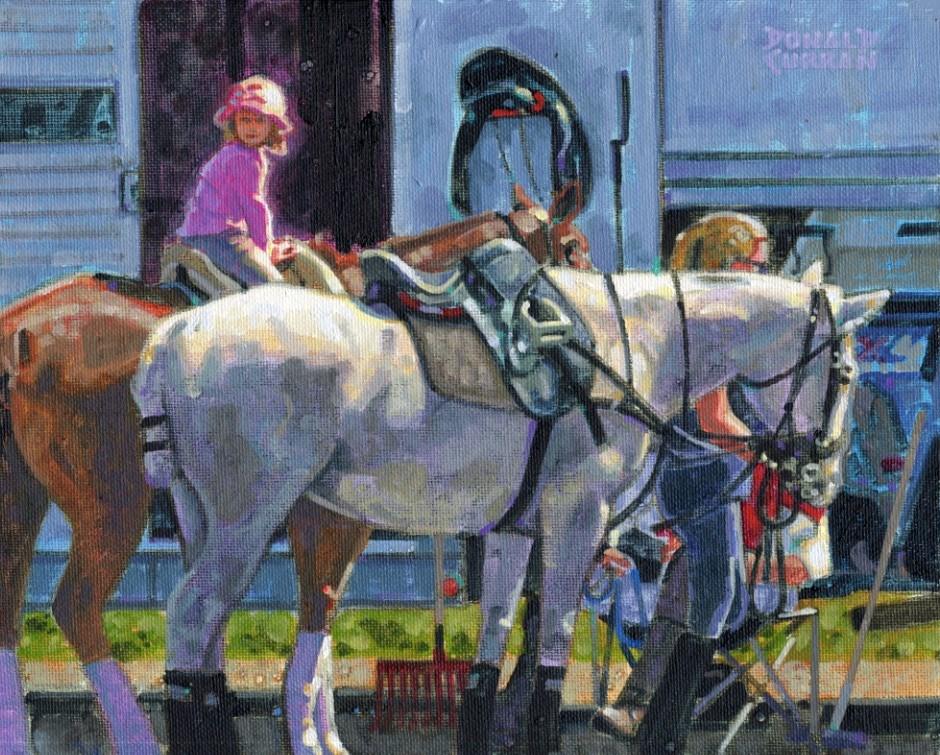 """Horsie Ride"" original fine art by Donald Curran"
