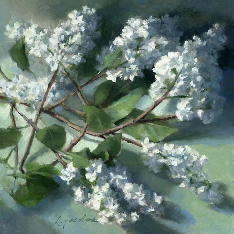 """Lilacs Dressed in White"" original fine art by Linda Jacobus"