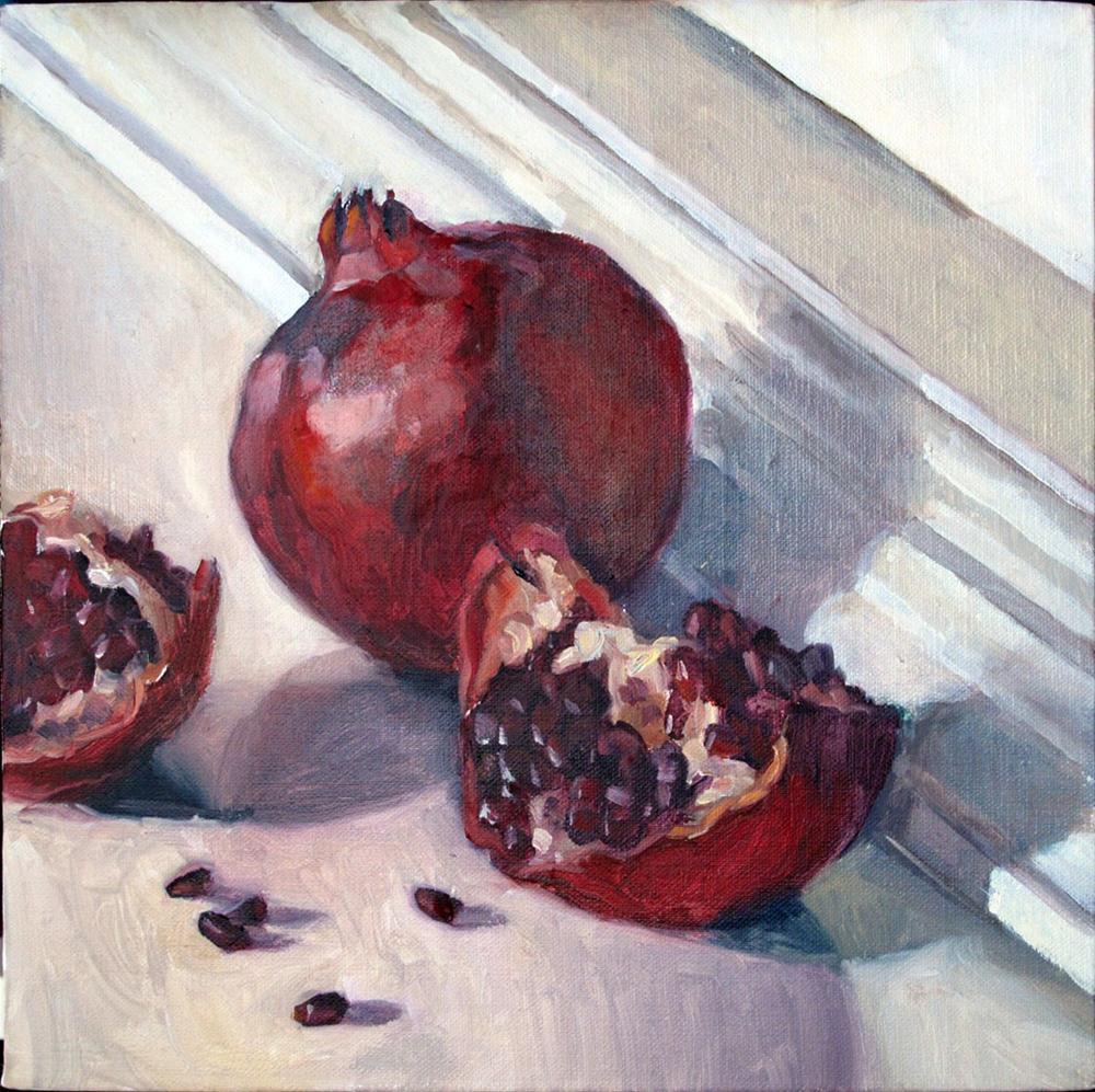 """Morning pomegranate"" original fine art by Myriam Kin-Yee"