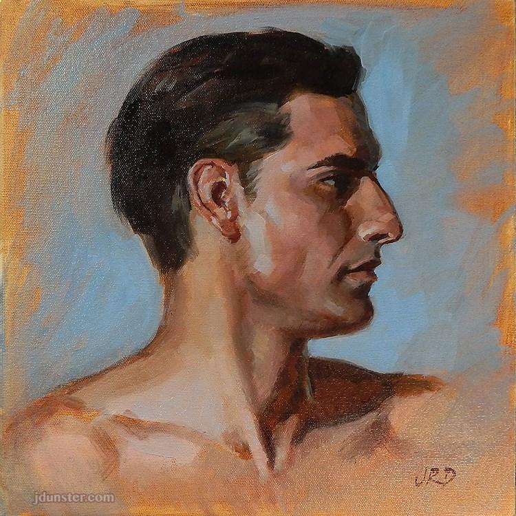"""Classic Profile"" original fine art by J. Dunster"