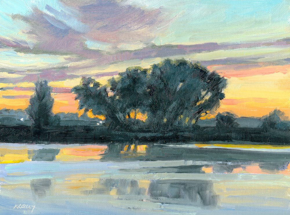 """Cottonwood Reflections"" original fine art by Kath Reilly"