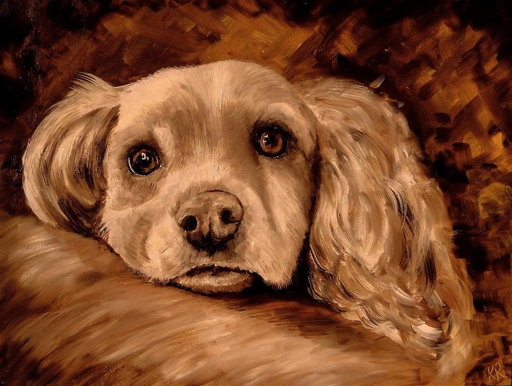 """Brown Study (2)"" original fine art by Karen Robinson"