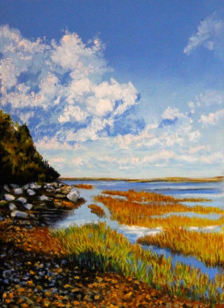 """Scudders Lane Landing"" original fine art by Jill Bates"