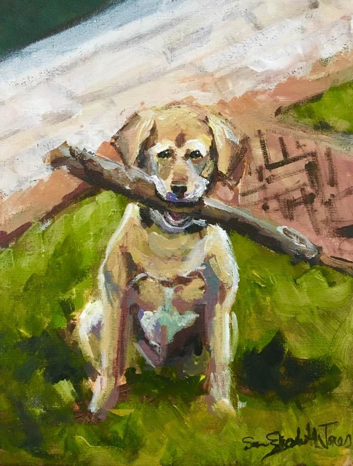 """Speak Softly and Carry a Big Stick"" original fine art by Susan Elizabeth Jones"