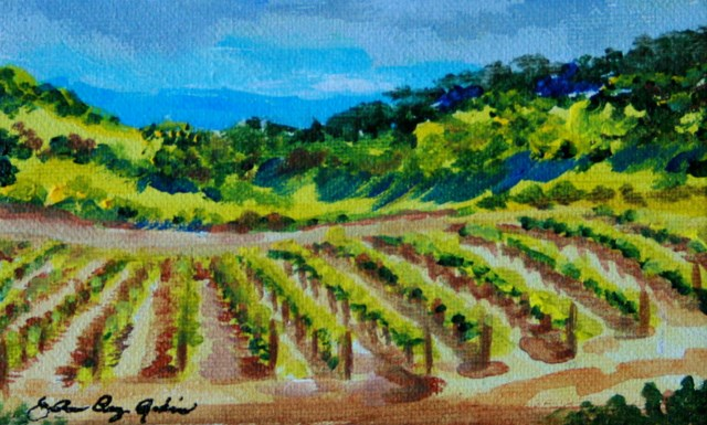 """Gilroy's Got Wine"" original fine art by JoAnne Perez Robinson"