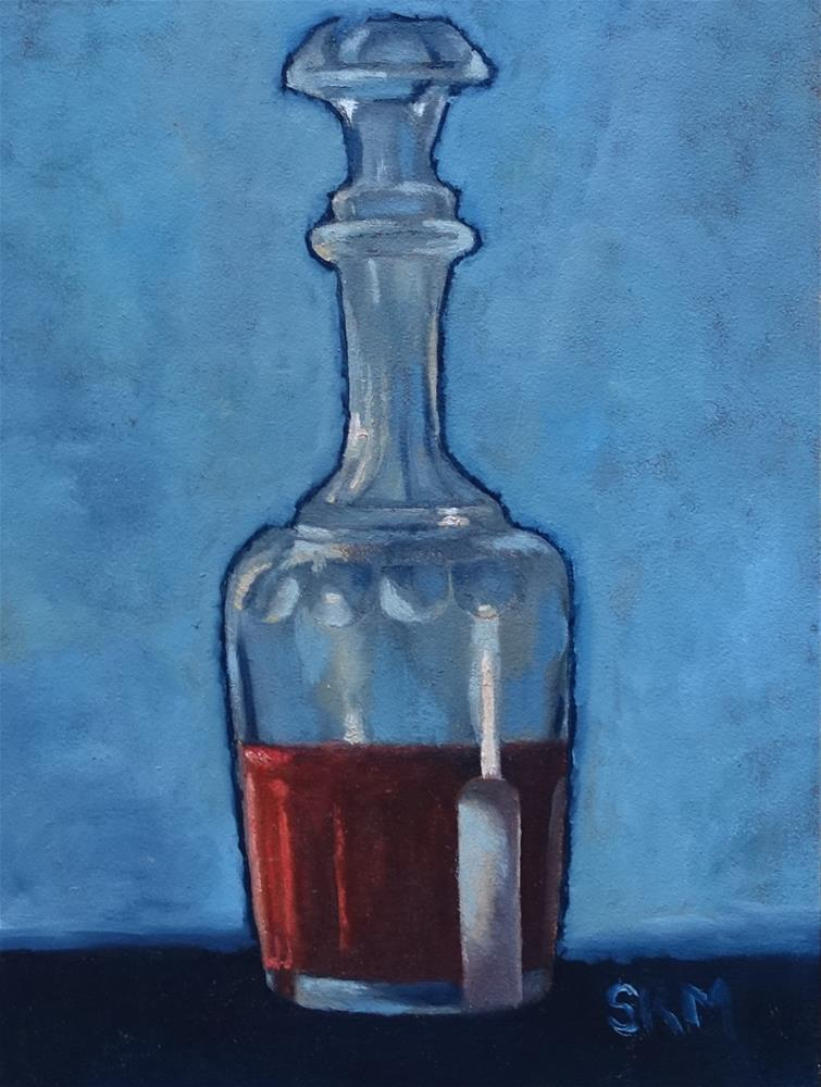"""Still life: carafe on blue"" original fine art by Sarah Meredith"