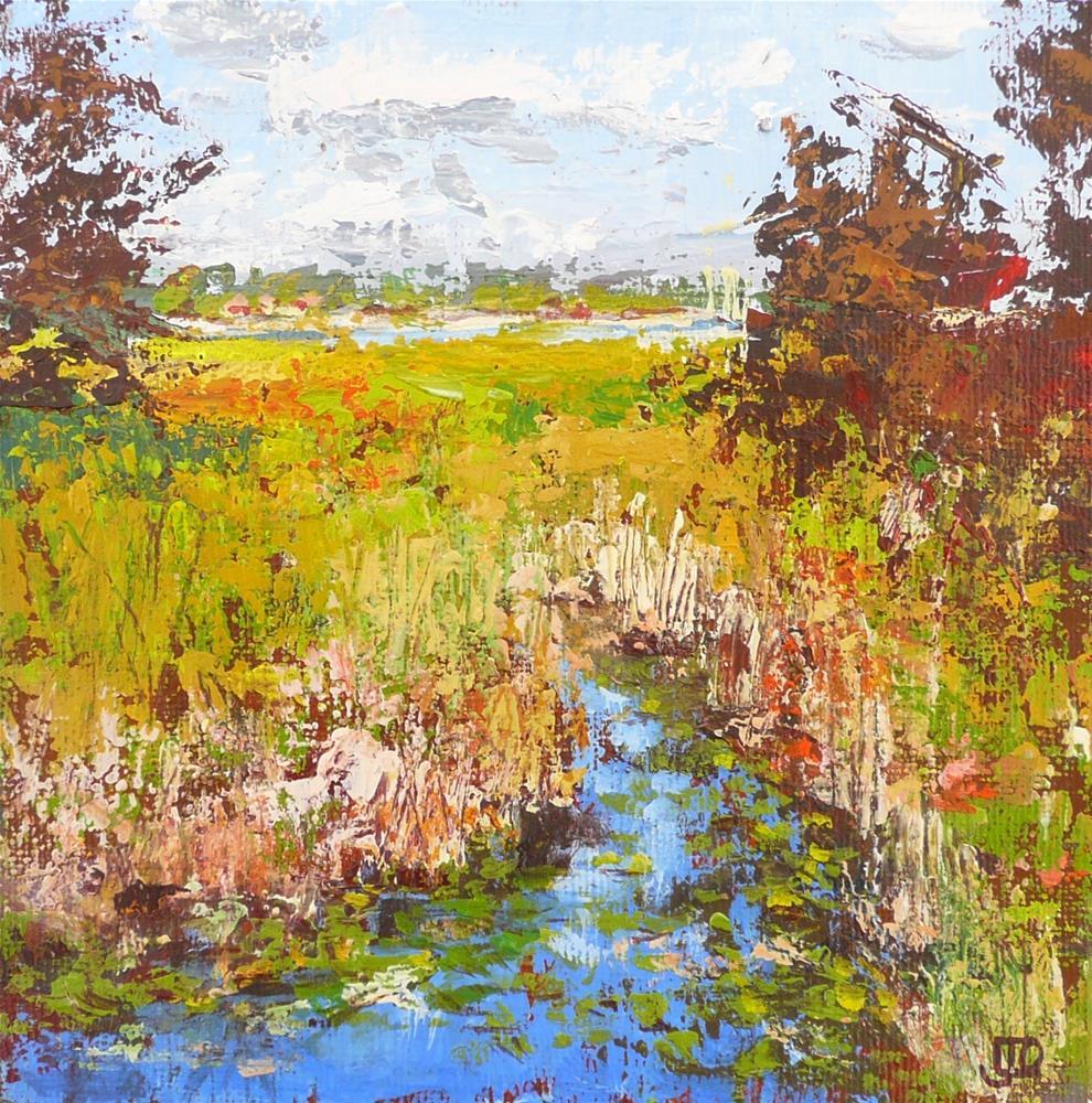 """""""Toward The Lake"""" original fine art by Leanne Owen"""