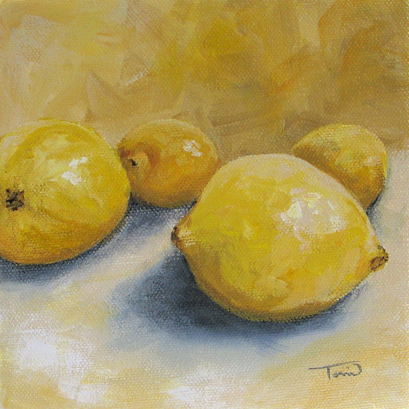 """Lemon Yellow"" original fine art by Torrie Smiley"