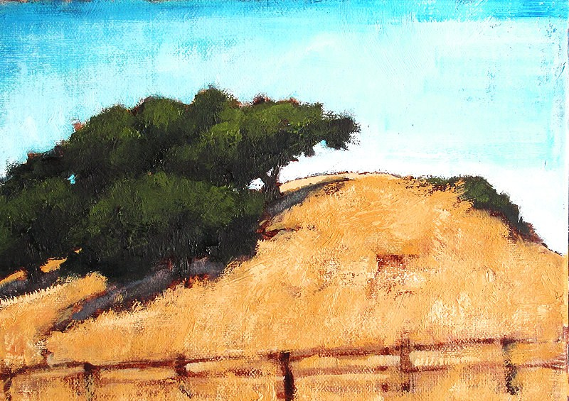 """Outside Santa Barbara"" original fine art by Kevin Inman"