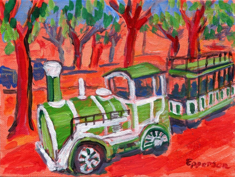 """Parnu Choo-Choo, Estonia"" original fine art by Stanley Epperson"