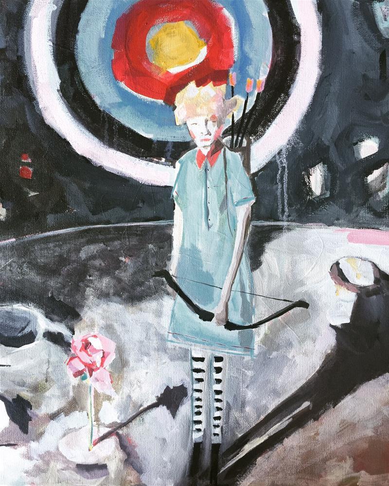 """456 I Volunteer as Tribute"" original fine art by Jenny Doh"