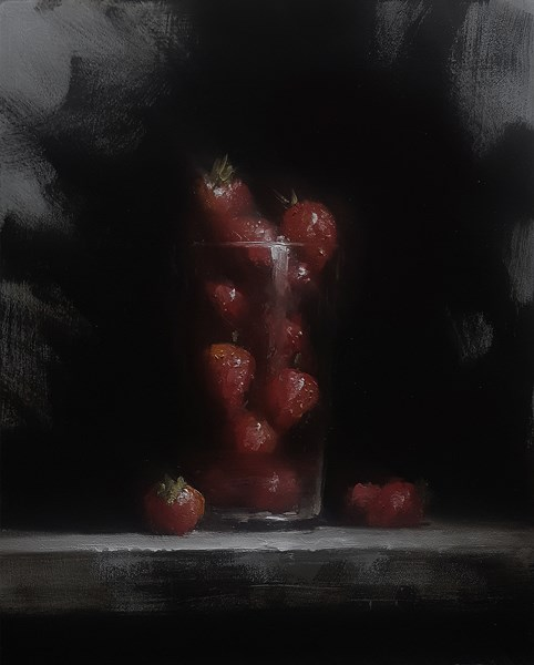 """Strawberry Glass"" original fine art by Neil Carroll"