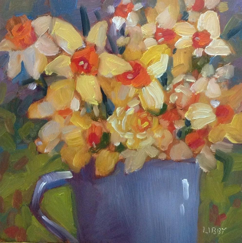 """Cup of Yellow"" original fine art by Libby Anderson"