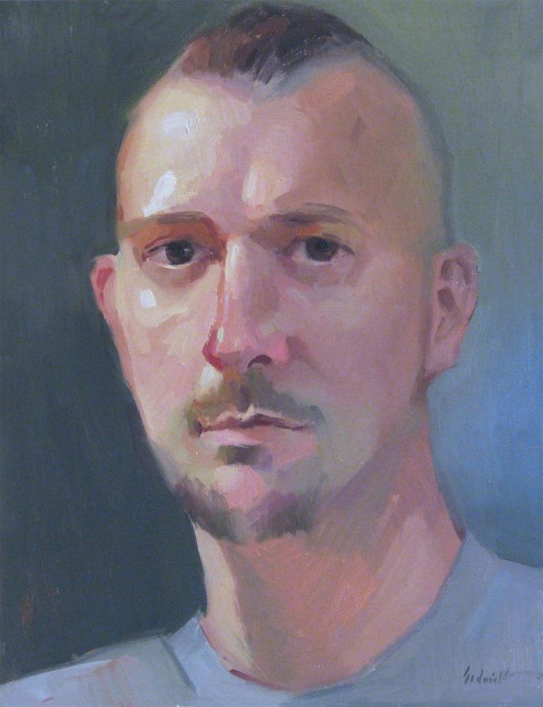 """Portrait Painting in Portland"" original fine art by Sarah Sedwick"