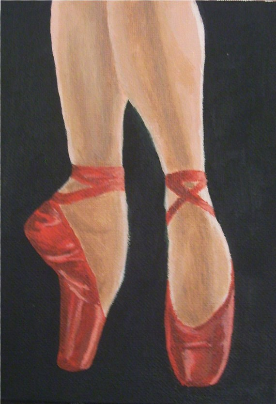 """Ruby Slippers"" original fine art by Amy VanGaasbeck"