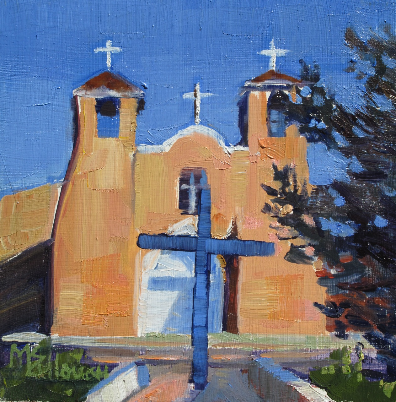 """Ranchos de Taos"" original fine art by Susan McCullough"