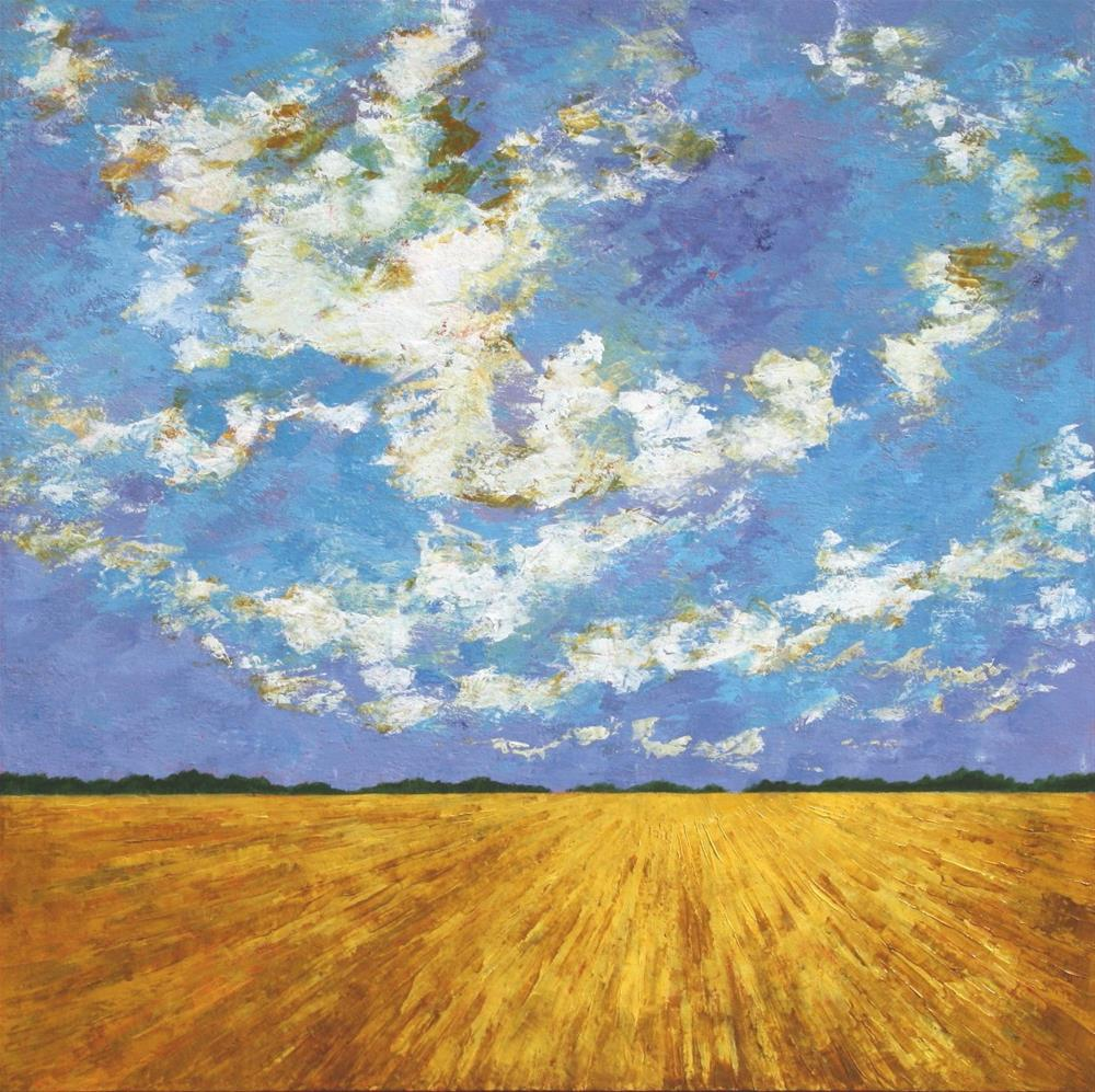"""High Over the Wheat Field"" original fine art by Sage Mountain"