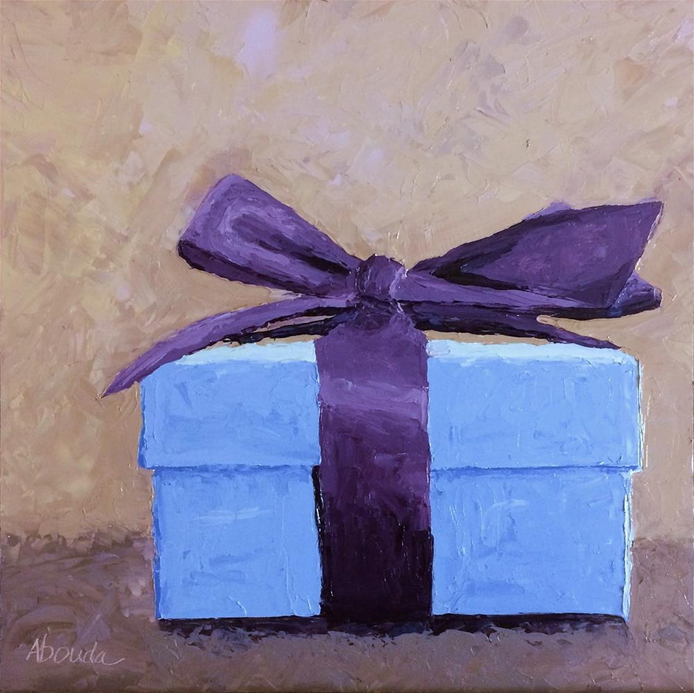 """Purple Bow"" original fine art by Sandy Abouda"